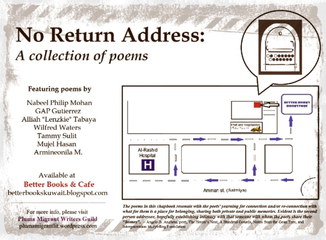 No Return Address: A collection of poems by Pluma Migrant Writers Guild