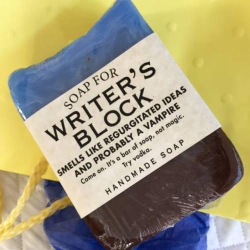 Muse in Briefs Writer's block handmade soap