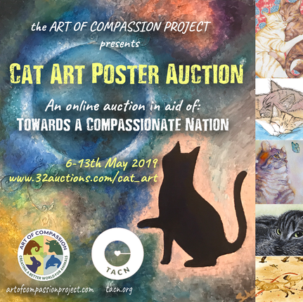 Online Cat Art Poster Auction